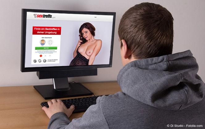 Mann sucht online nach Sex